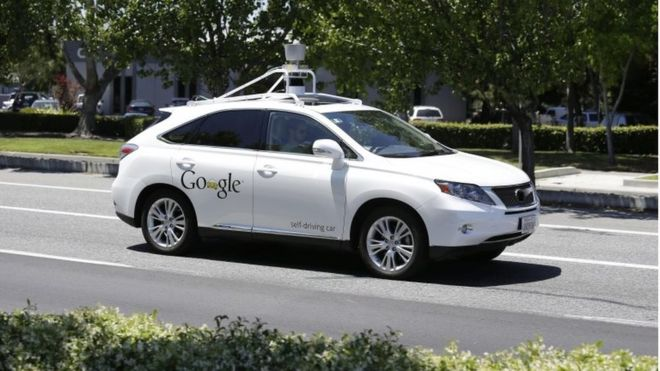 auto bez kierowcy google